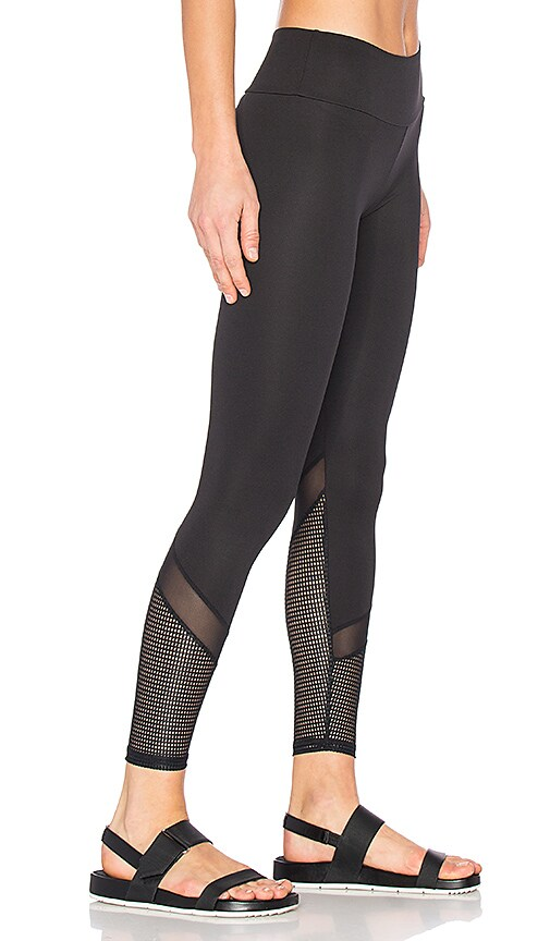 Lanston SPORT Blake Mesh Leggings in Black