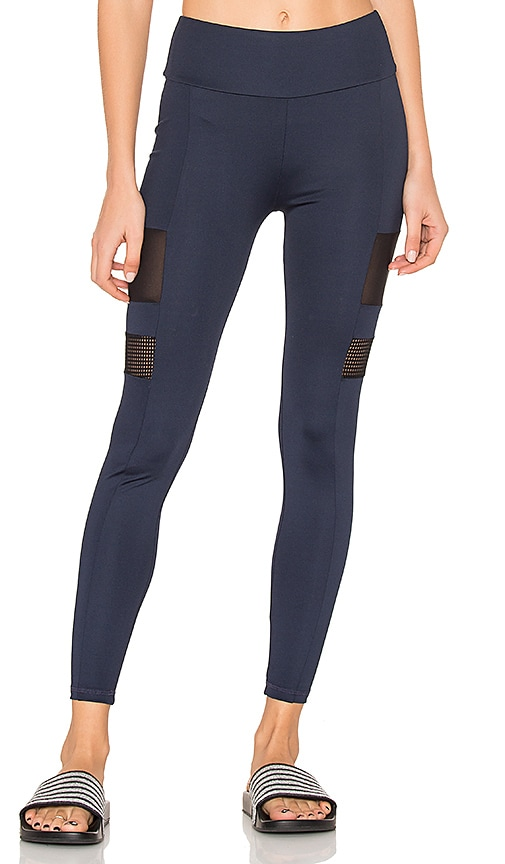 Lanston SPORT Edison Side Bar Leggings in Blue
