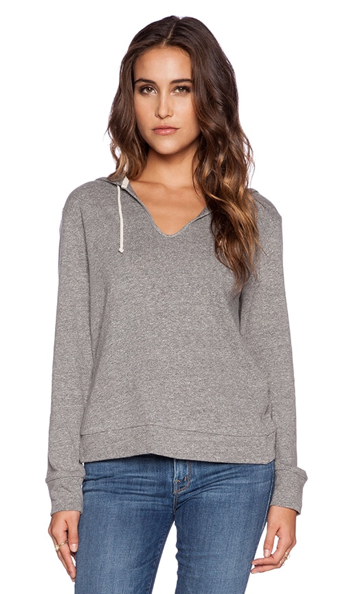 Lanston Scallop Back Hoodie in Heather