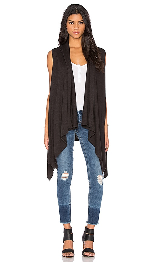 Lanston Oversized Vest in Black