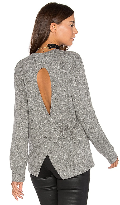 Lanston Tie Back Sweatshirt in Grey