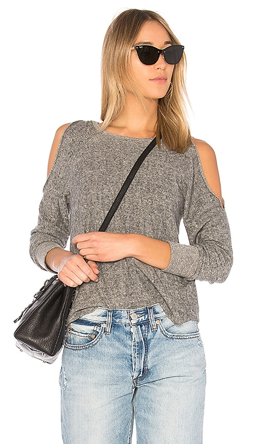 Lanston Reverse Cutout Pullover in Gray