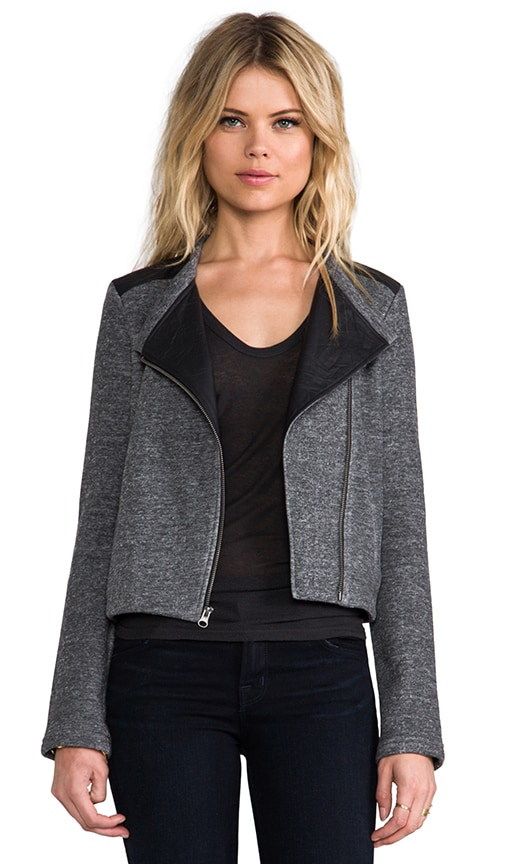 Moto Jacket w/ Leather Trim