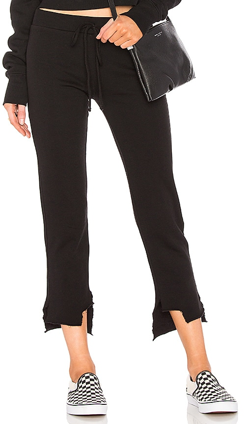 Lanston High Low Pant in Black