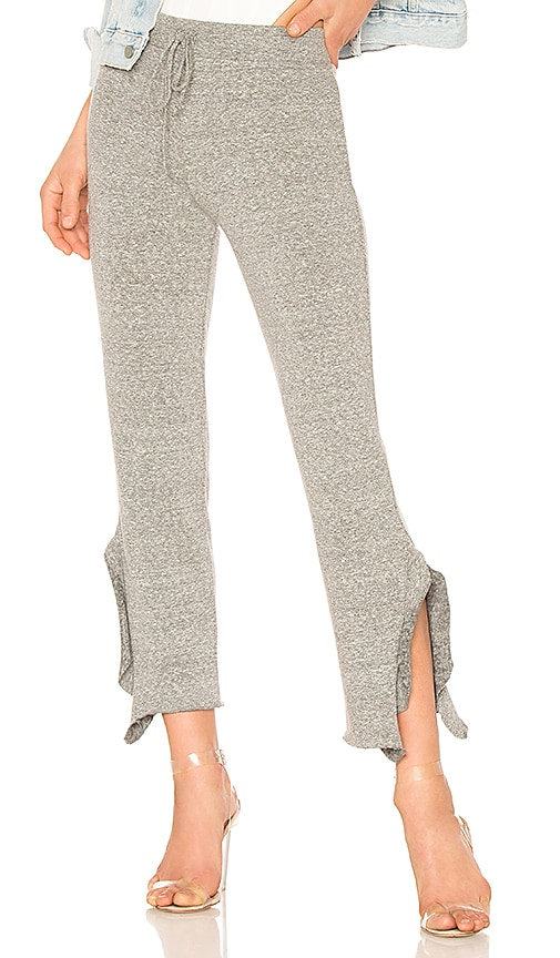 Lanston Crop Ruffle Pant in Gray