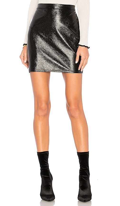 Lanston Brooklyn Mini Skirt in Black