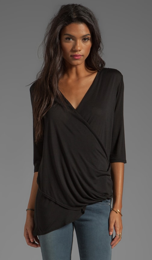 Asymmetrical Surplice Top