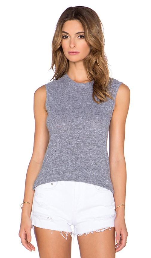Lanston Tri Blend Fitted Muscle Tee in Heather