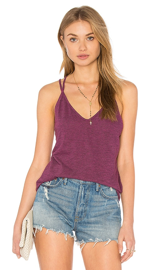 Lanston Strappy Crossback Cami in Purple