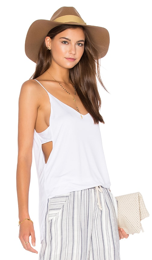 Lanston Cut Out Cami in White
