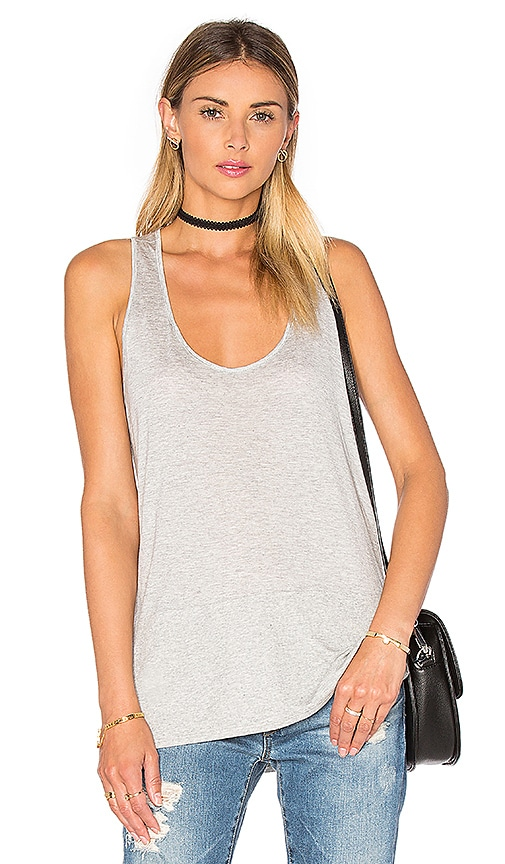 Lanston Block Racerback Tank in Grey