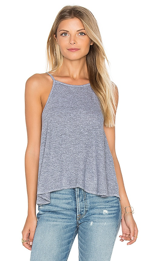 Lanston Swing Crop Cami in Gray