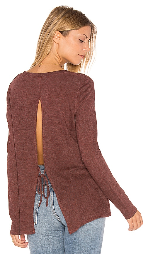 Lanston Tie Back Tunic in Rust