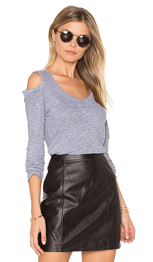 Lanston Cold Shoulder Top in Gray