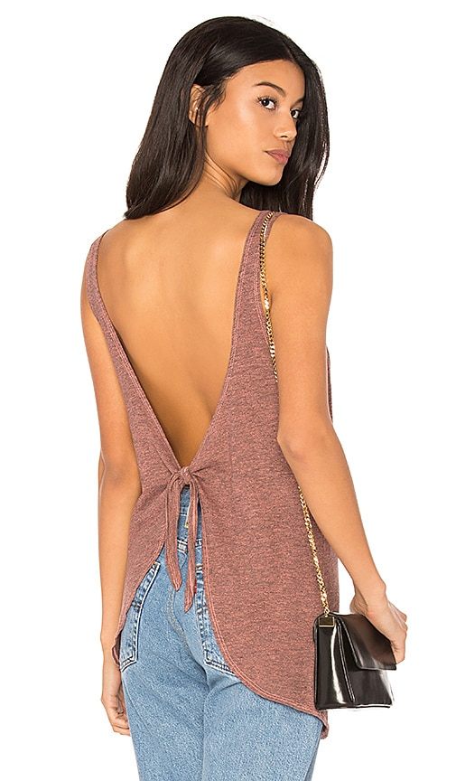 Lanston Tie Back Tank in Red