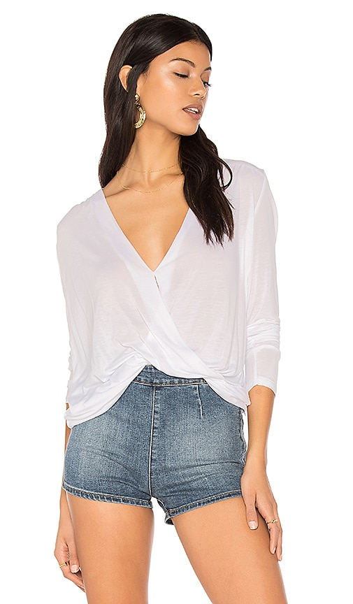 Lanston Surplice Blouse in White