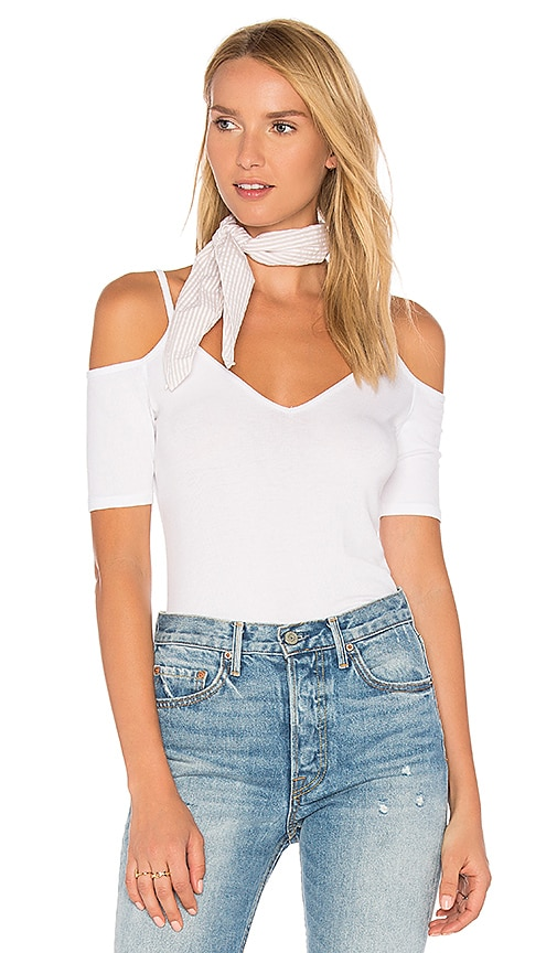 Lanston Cold Shoulder Tee in White