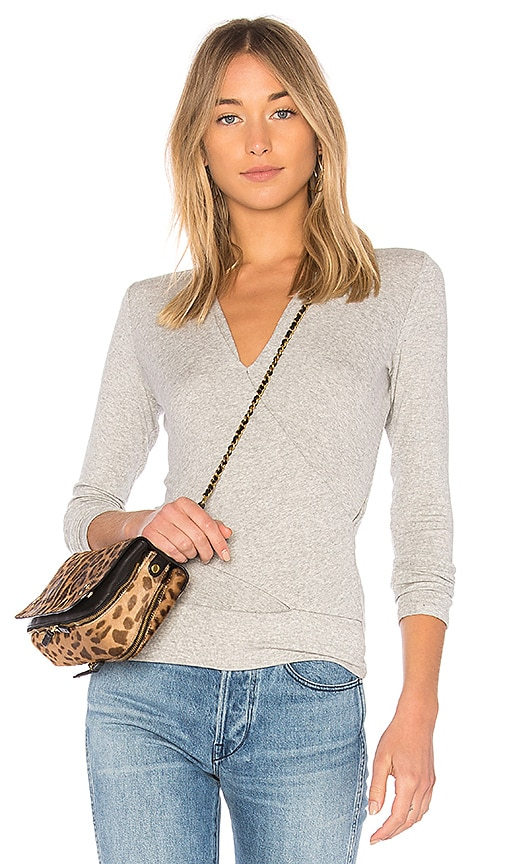 Lanston Crossover Top in Gray