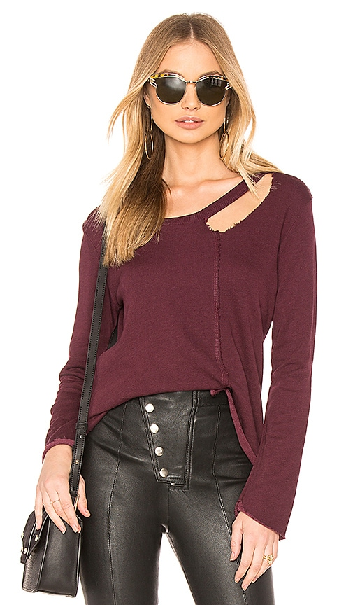 Lanston Porter Top in Burgundy