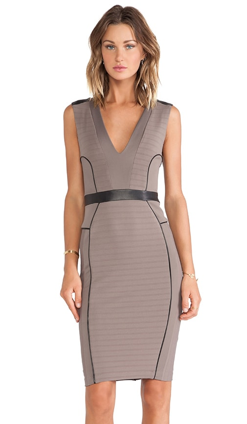 LaPina Kimberly V Neck Dress