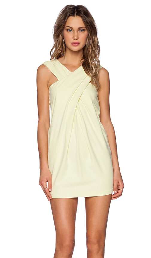LaPina by David Helwani Willow Dress in Soft Lime