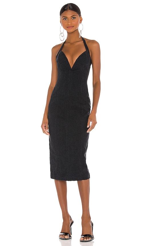 LaQuan Smith x Jordache Bustier Dress in Black   REVOLVE