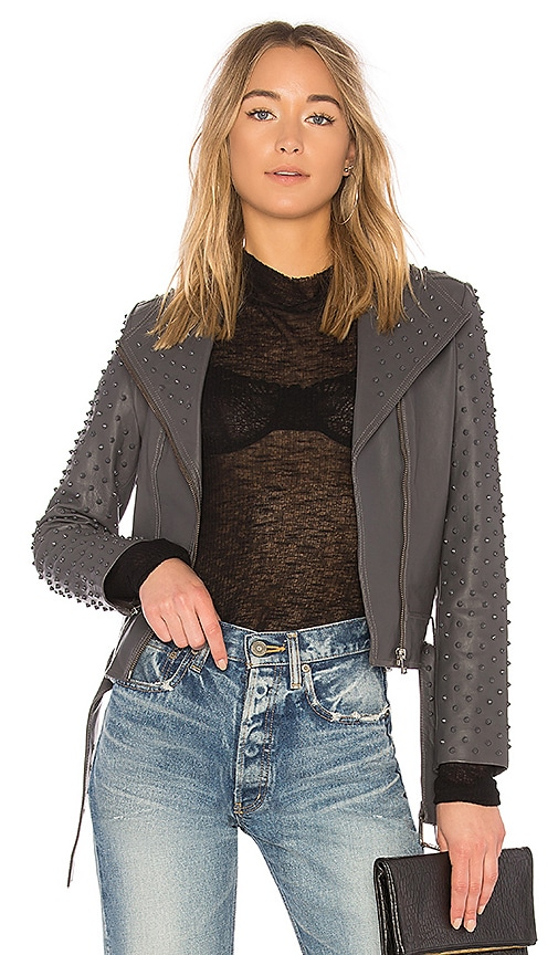 LAMARQUE Ella Moto Jacket in Charcoal