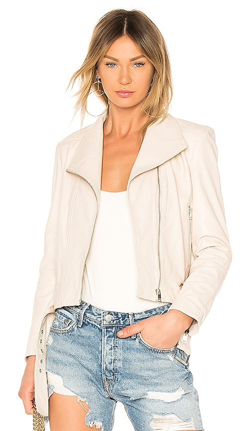 LAMARQUE Ella Leather Jacket in Neutral