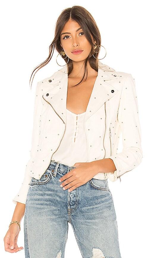 LAMARQUE Piper Studs Biker Jacket in White