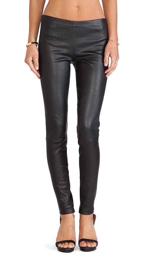 Winnie Seamed Leather Legging