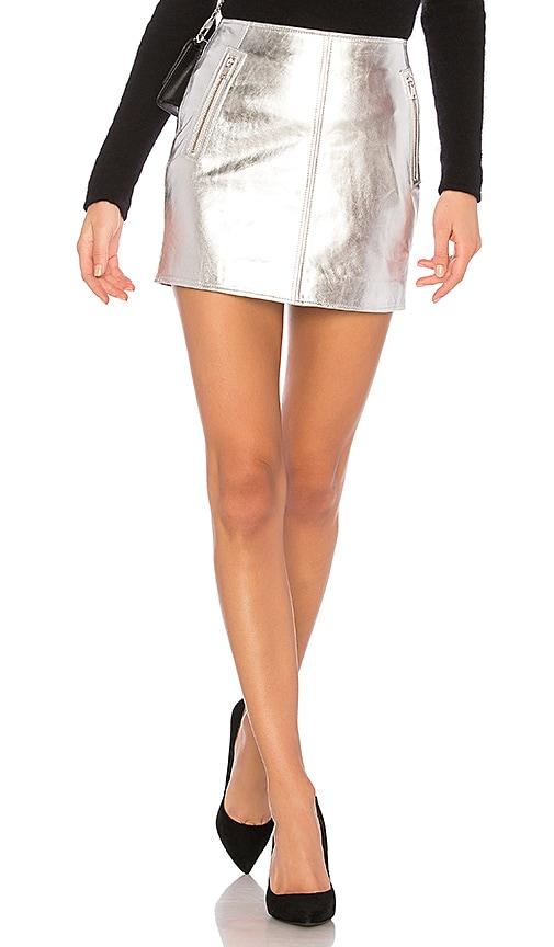 LAMARQUE Haze 18 Skirt in Metallic Silver