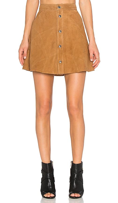Leandra Suede Skirt