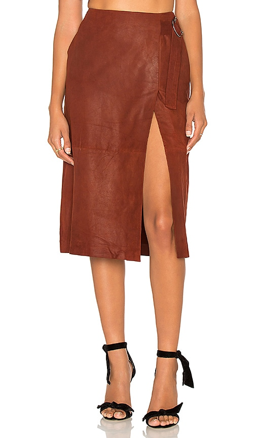 LAMARQUE Contessa Skirt in Rust