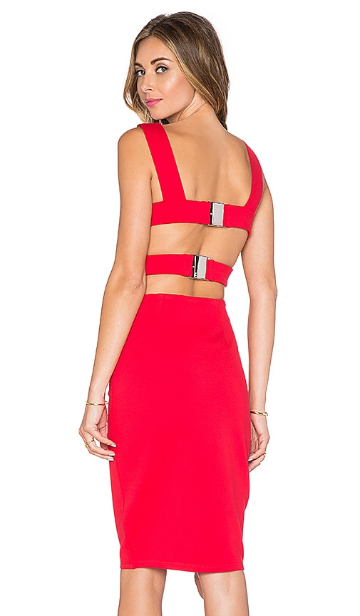 Lavish Alice Back Cut Out Dress in Red | REVOLVE