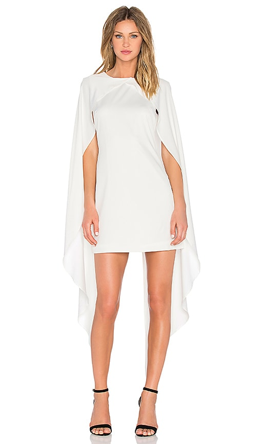 Lavish Alice Cape Dress in White
