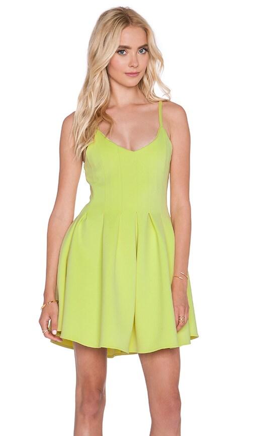 Lavish Alice Fit & Flare Halter Dress in Lime