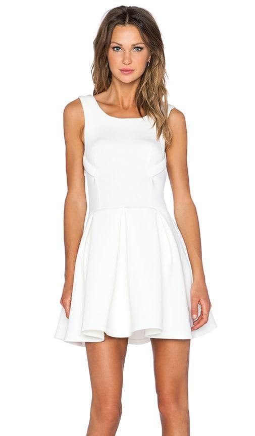Lavish Alice Fit & Flare Dress in White