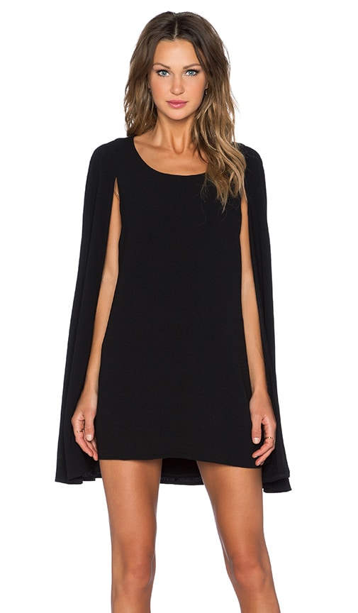 Cape Back Mini Dress