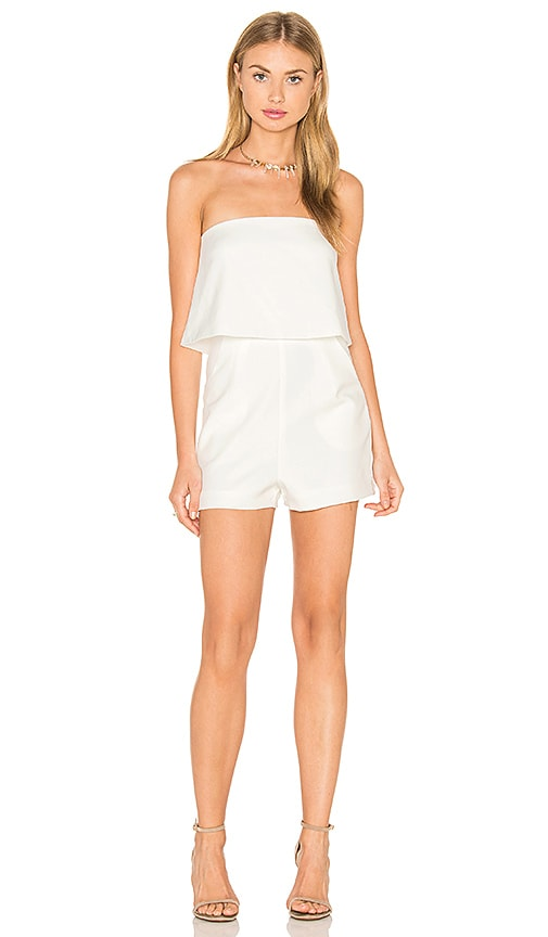 Lavish Alice Bandeau Cropped Romper in White
