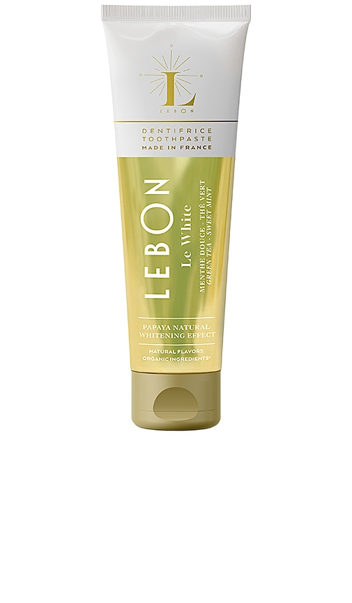 LEBON Le White Toothpaste in Sweet Mint & Green Tea