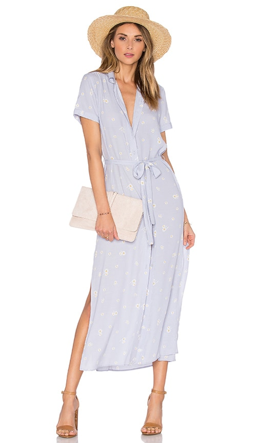 L'Academie The Maxi Shirt Dress in Purple