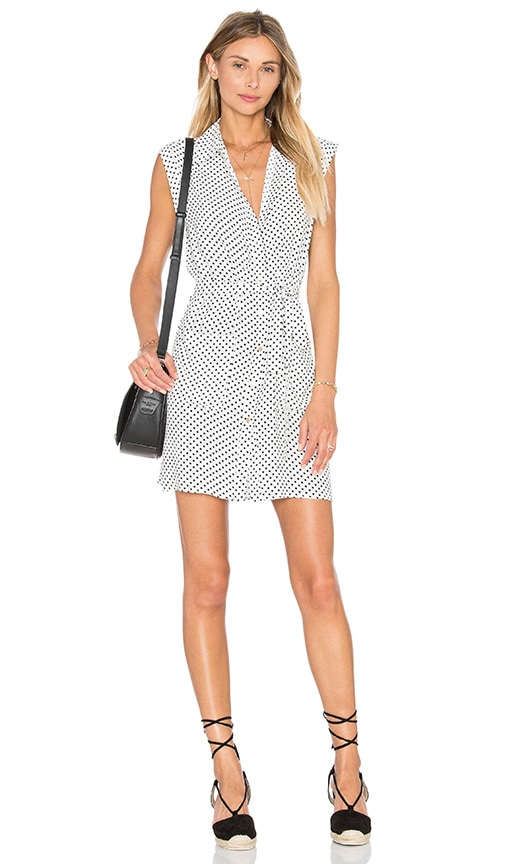 L'Academie The Sleeveless Shirt Dress in White