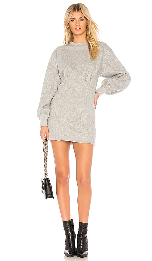 L'Academie The Margot Fleece Dress in Heather Grey | REVOLVE