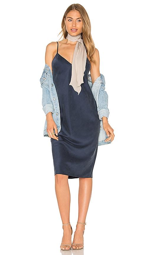 Vestido lencero azul