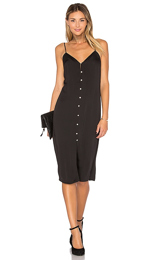 L'Academie The Slip Dress in Black