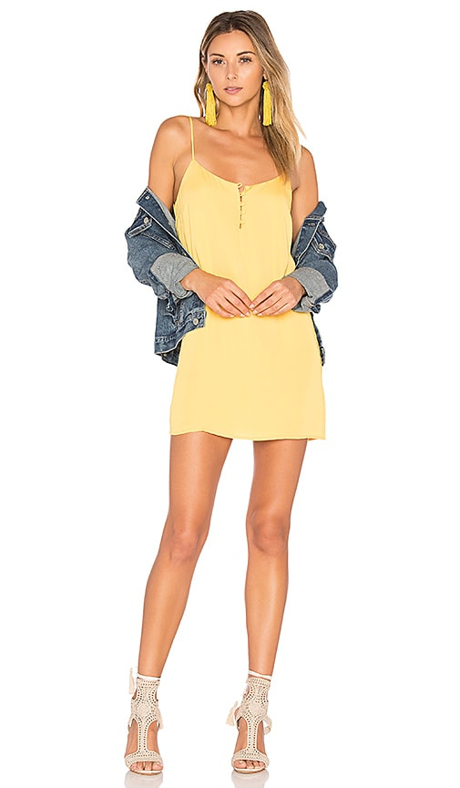 L'Academie x REVOLVE The Mini Slip Dress in Yellow