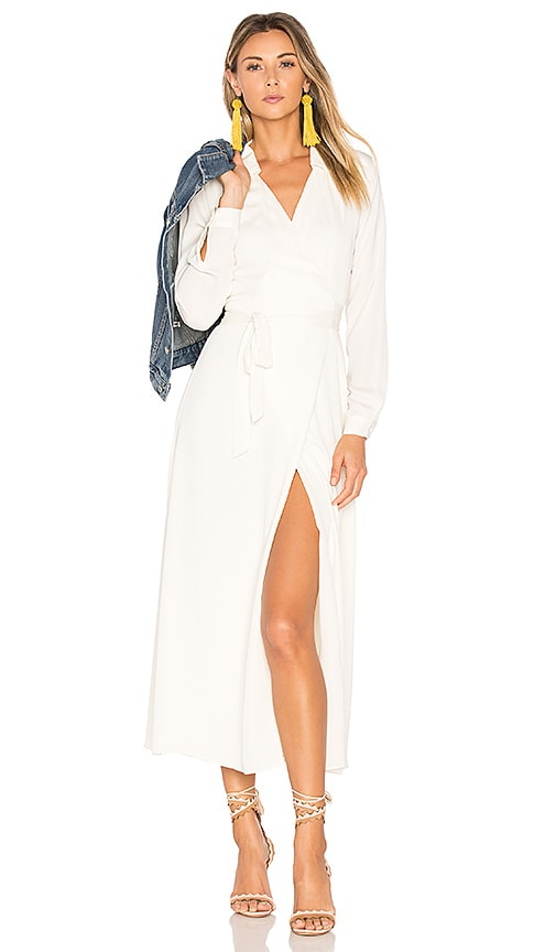 L'Academie The Wrap Dress in White