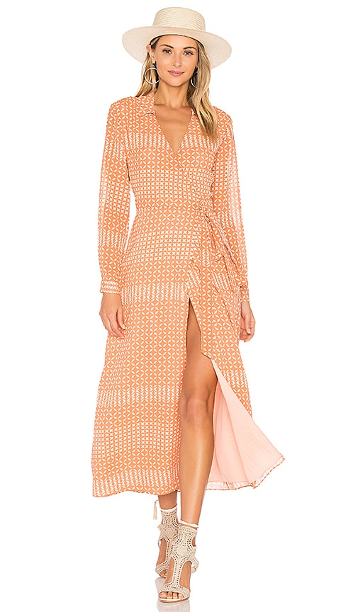 L'Academie The Wrap Dress in Pink