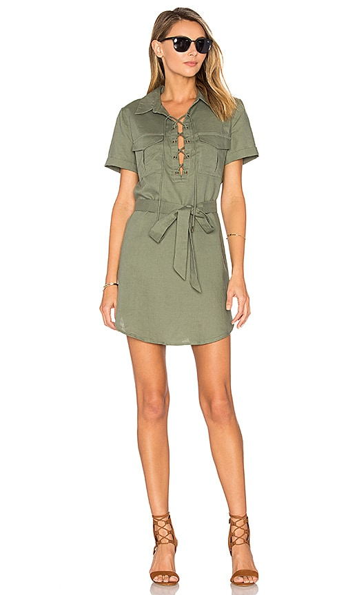 L'Academie The Safari Dress in Olive