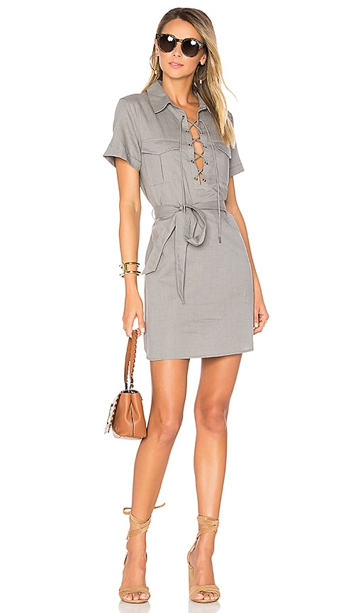 L'Academie The Safari Dress in Gray